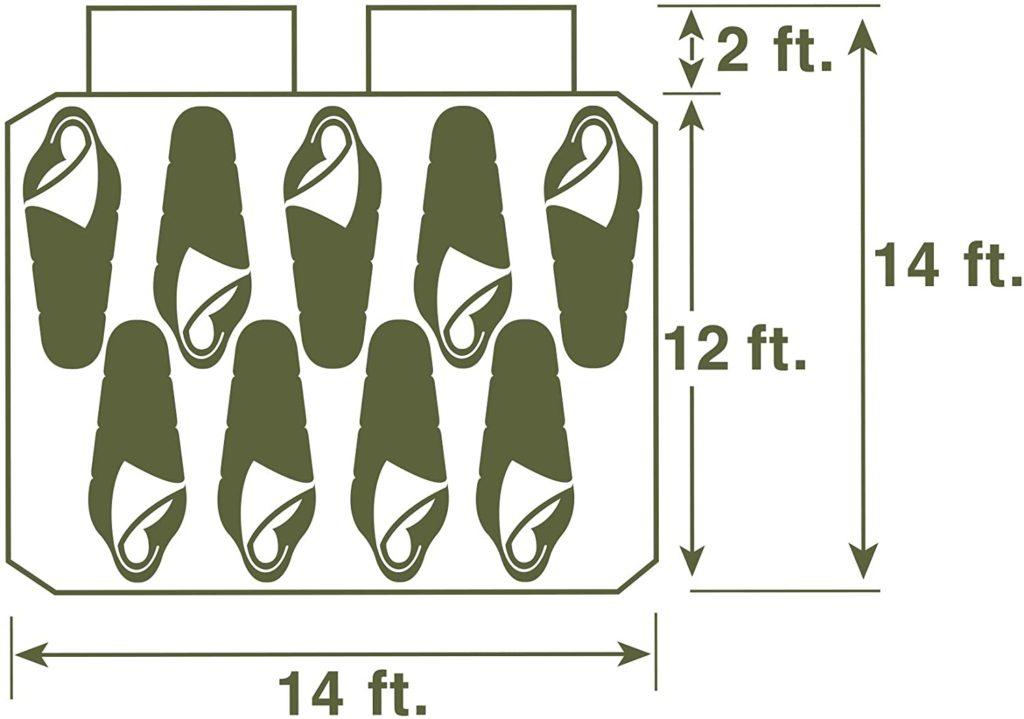 Wenzel(ウェンゼル) Kodiak (コディアック) 9人用 テント